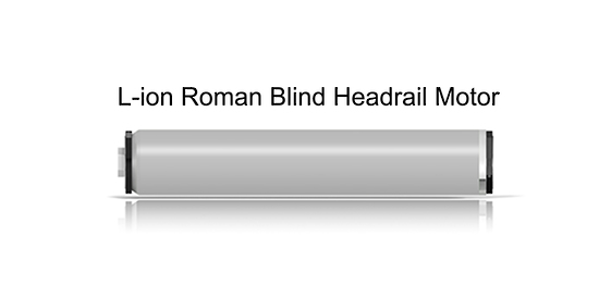 L Ion Series Motorised Roman Blind Headrail Motorised